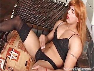 Hot gay crossdressing lingerie play...