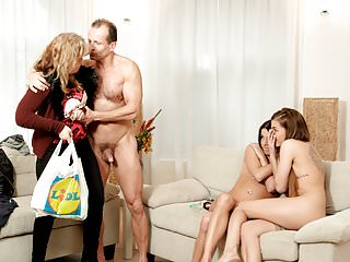 DADDY4K. Mom's two daughters getting naughty in her…