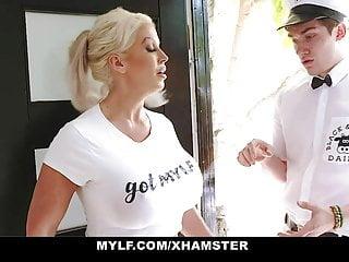 Mylf deepthroats cock...
