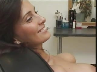 Angie George with Vicky Valentine in a lesbian scene