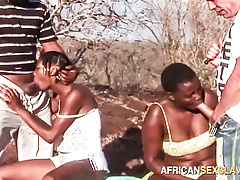 Black Sex Slaves in Outdoor BDSM Orgy