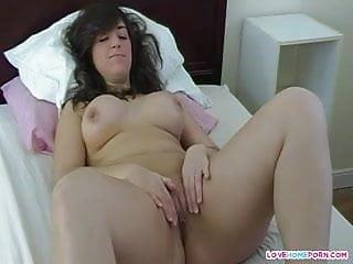 Busty masturbating...