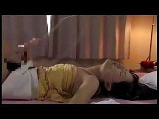 Futanari suck her own cock and cum in her mouth