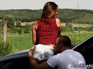 Gorgeous babe anally drilled doggystyle