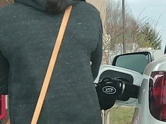 Hot Ass & Thigh Gap at Gas Station