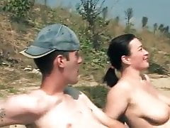 Hairy cuckold outdoor