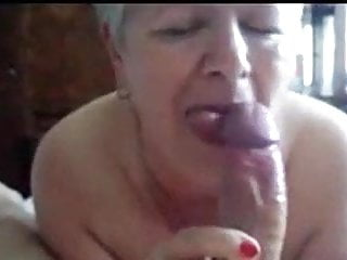 Granny gobbling head...