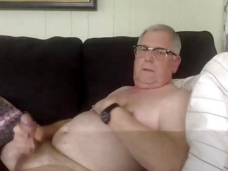 Handsome grandpa with nipples piercing