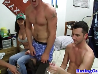 Twink student assfucked at party...