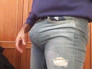 Big Bulge Bulging Tight Jeans