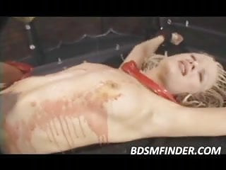Lesbian Hot Wax Punishment