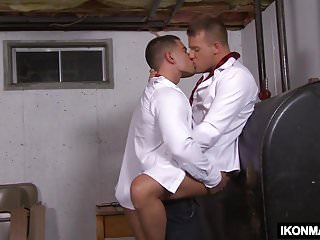 Scandalous schoolboys fucks each other...