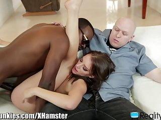 Milf fucks a black guy in front of...