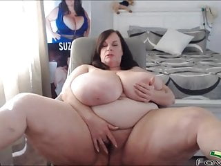 Mature BBW with natural monster boobs