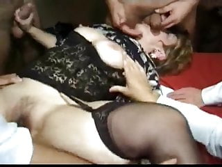 The Swinger Experience Presents Fat ass granny gangbang