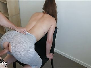 Creampie my her ripped yoga pants...