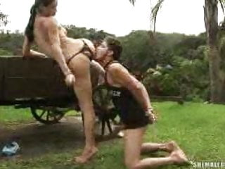 Shemale Fucks Guy Shemale Ladyboy Shemale Big Cock Shemale vid: Adriana Rodrigues gets a real hard on
