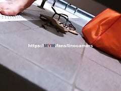 Spied in a swimming pool public changing room masturbating