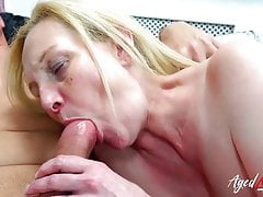 Blond Milf with giant naturals