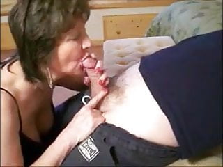 sensual Grandma to and blowjob her slowly lover a giving