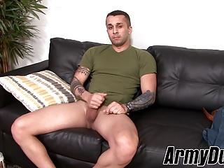 Army stud tattoos tugs his...