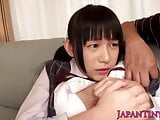Squirting tiny Japanese schoolgirl assfucked