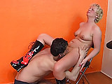 Slutty amateur blonde milf homemade action with her husband