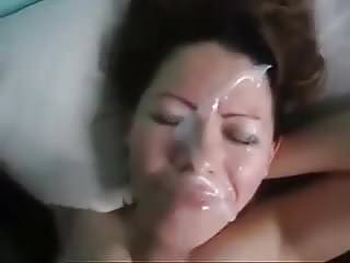 Wife Gets a Huge Facial