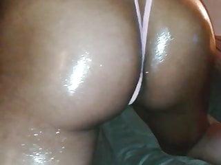 Phat oiled booty cheeks in slingshot...