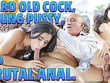 OLD4K. Hot old and young fucking scene ends with cumshot in