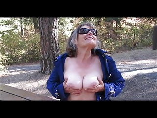 Nana playing with her tits