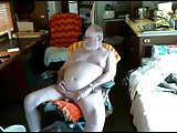 grandpa and daddy on webcam