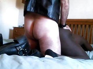 Skinhead white master dp breeds black slave...