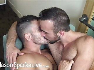 First time jock gets monster cock bareback cum inside