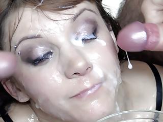 Premium Bukkake – Michelle swallows 74 immense mouthful cumshot