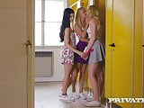 Private.com - Lesbian threesome in the restroom