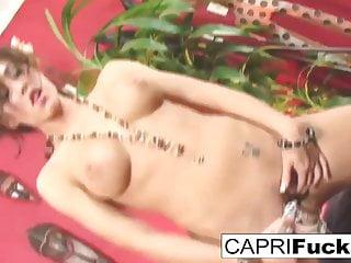 Capri fucks her tight wet pussy