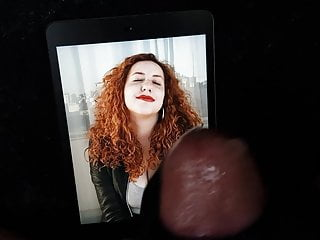 redhead huge tribute tits curly Cum with to a