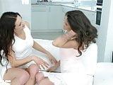 Linda Moretti and Verona Sky in lesbian scene Divine dancing