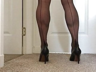 Fully fashioned stockings and...