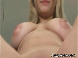 MILF with huge tits gets fucked by a younger biker