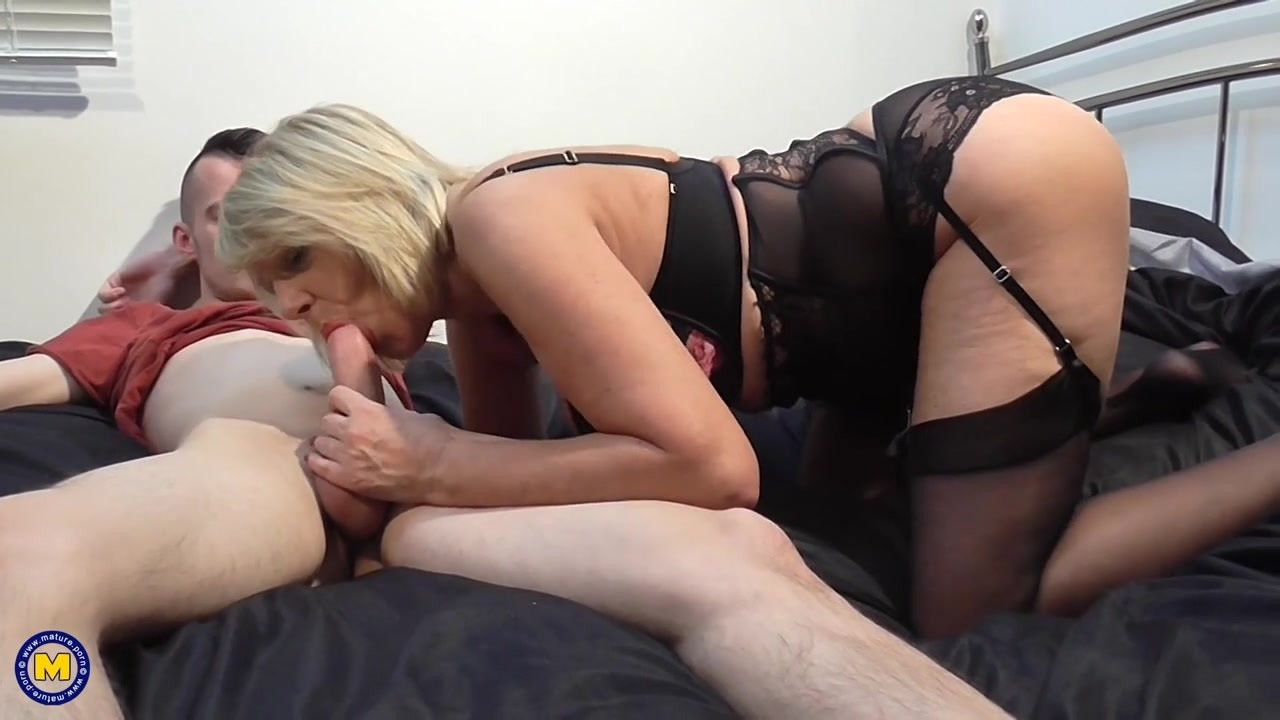 Busty British Milf Threesome