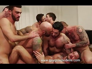Bodybuilders sex gay party orgy...