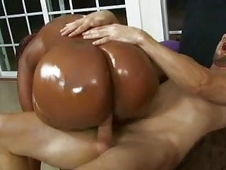 Lucky white stud gets his throbbing cock deep...