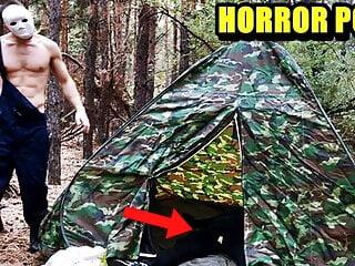 Masked villain fucks tired traveler in the woods HORROR PORN