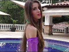 Heidy Pino In Pool