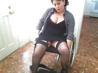 Paraplegic in wheelchair...