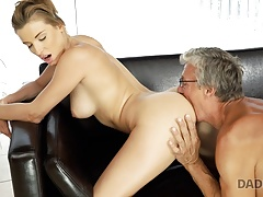 DADDY4K. Old and young sex in the villa after swimming