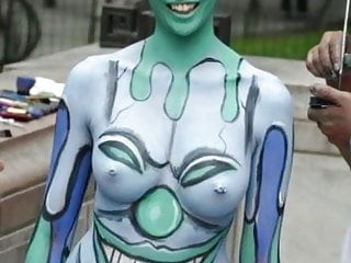 bodypainting is funny with nice girls  see pussy and titsHD Sex Videos
