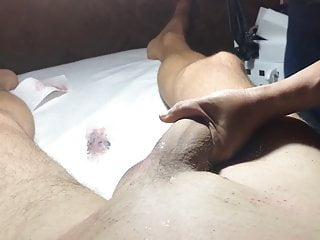 Brazilian Waxing of a Hung Male  Part 2 Balls and Shaft.MOV